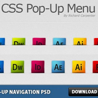 Pop-Up Navigation Free PSD