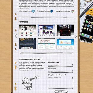 Portfolio Layout Free PSD