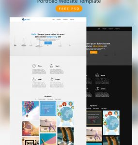 Portfolio Website Template Free PSD