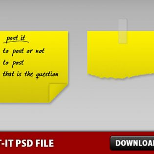 Free Post-it PSD file