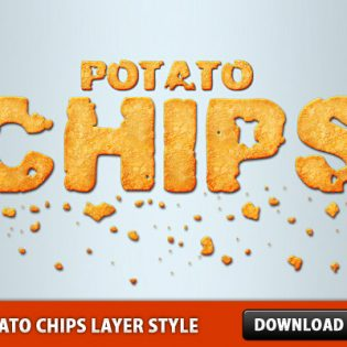 Potato Chips Layer Style