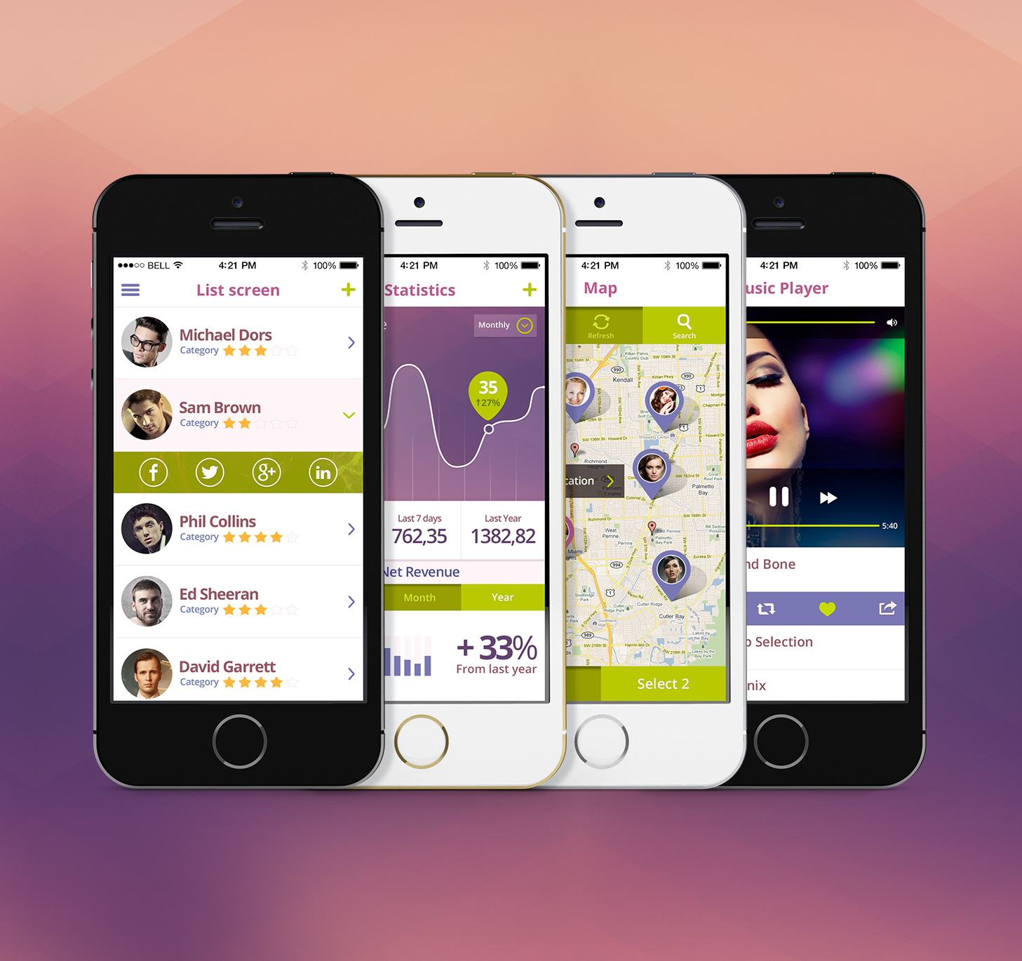 Premium Mobile App UI Kit PSD