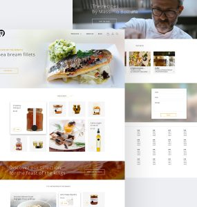 Clean Restaurant Website Template Free PSD