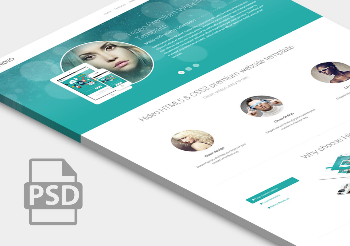 Premium website home page template psd download download psd for Home design website free