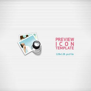 Preview Icon PSD