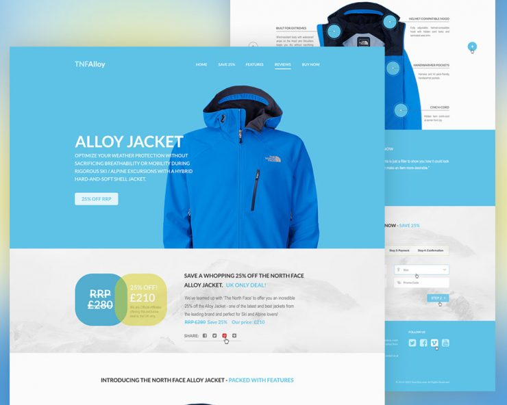 Product Landing Page Template PSD
