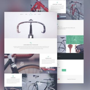 Product Showcase Website Template Free PSD
