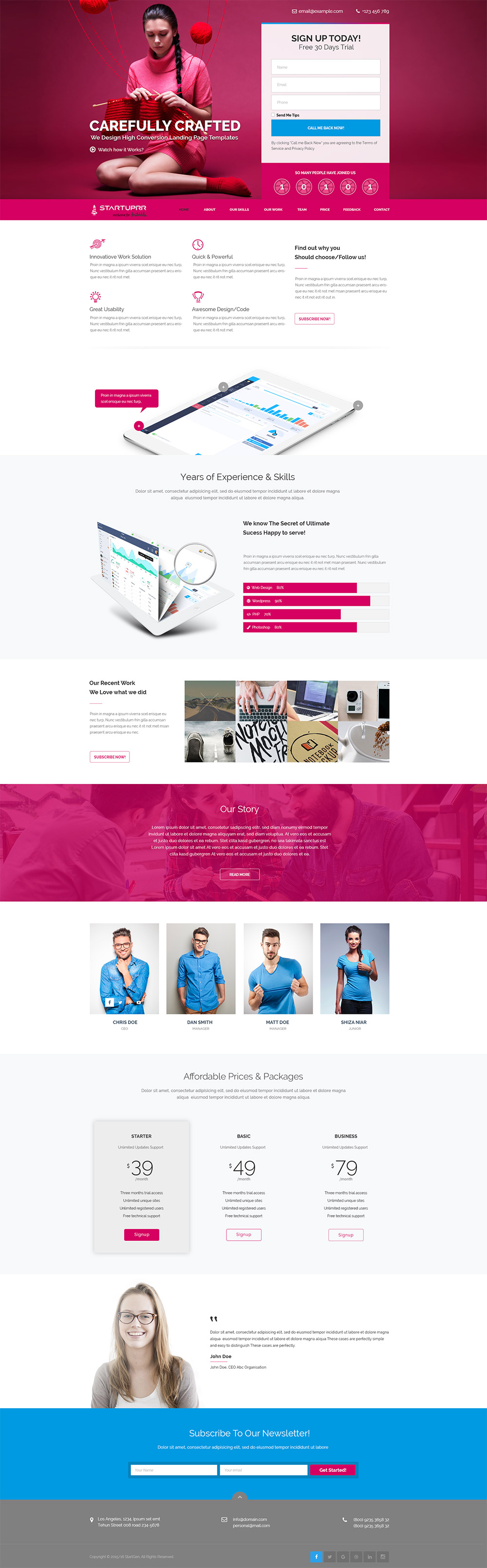 High quality 50 free corporate and business web templates psd product and services website landing page template free psd wajeb Gallery