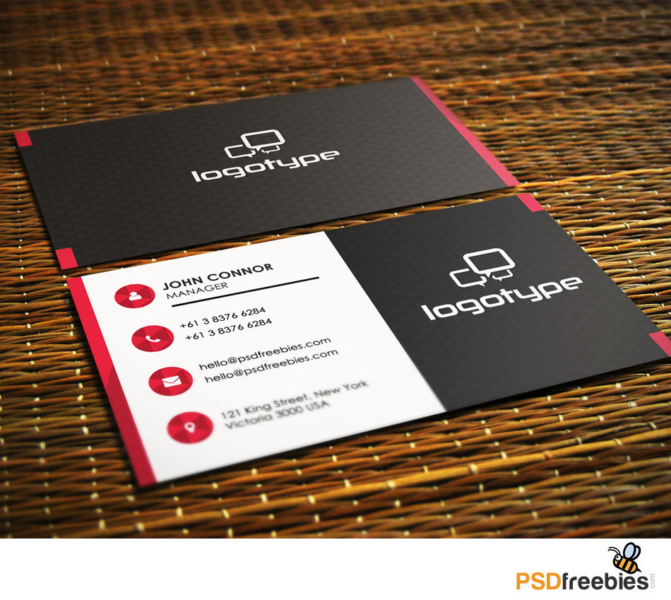 Free business card template datariouruguay 50 best free psd business card templates download accmission Image collections