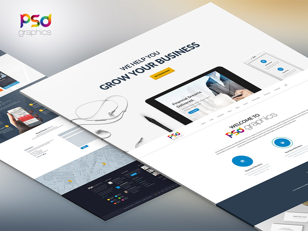 Professional Business Website Template Free PSD Graphics