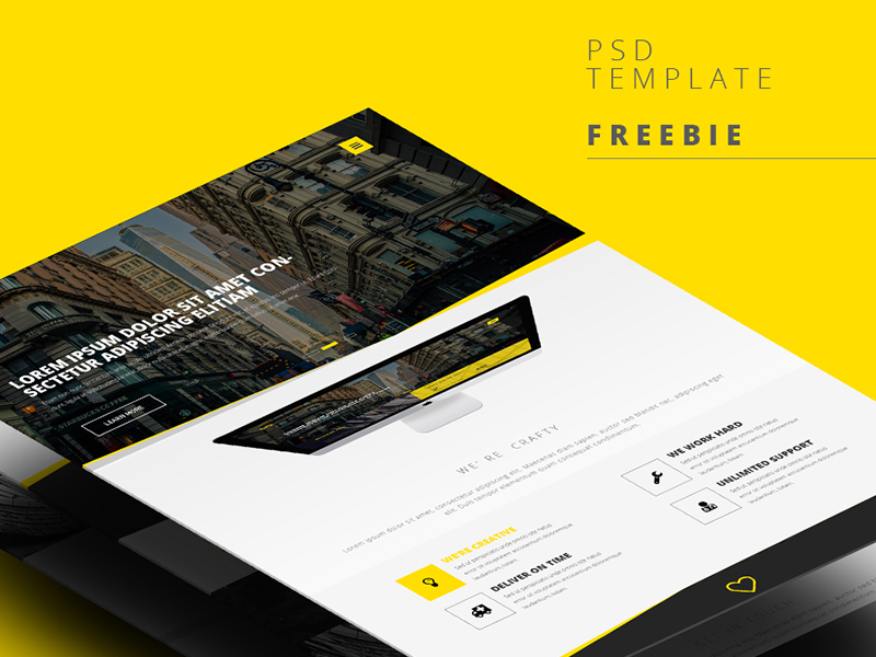 Professional Web Template Interface UI PSD