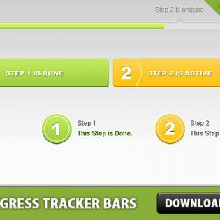 Progress Tracker Bars Free PSD