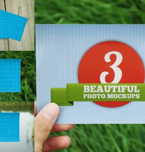Realistic Photo Mockup Free PSD