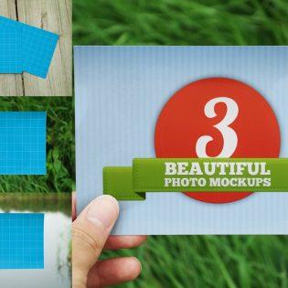 Realistic Photo Mockup Free PSD
