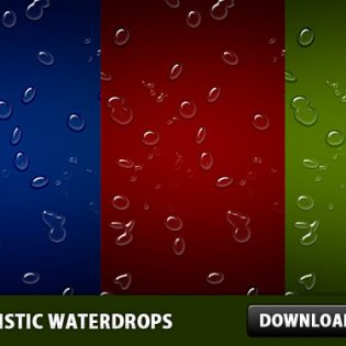 Realistic Waterdrops Background PSD