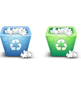 3D Recycle Bin Icon PSD Recycling Recycle Bin Recycle PSD Objects Layered PSDs Glossy 3D