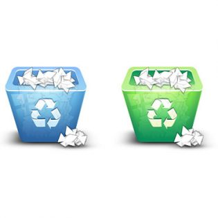 3D Recycle Bin Icon PSD