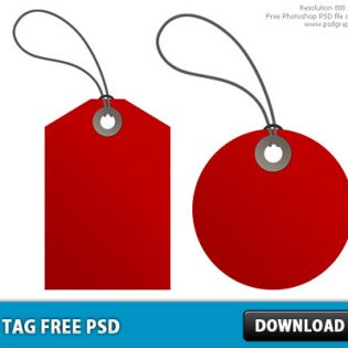 Red Tag Free PSD