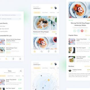 Restaurant Finder App PSD