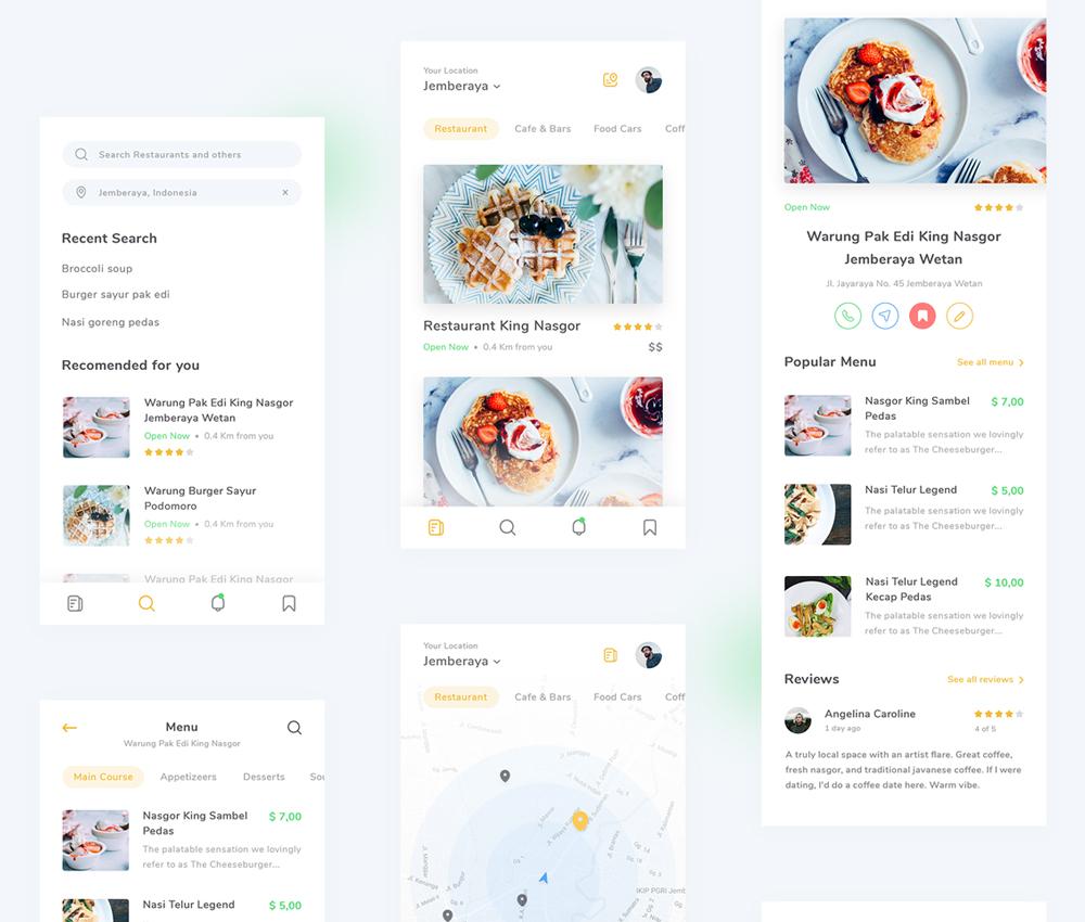 Restaurant Finder App Psd Download Psd