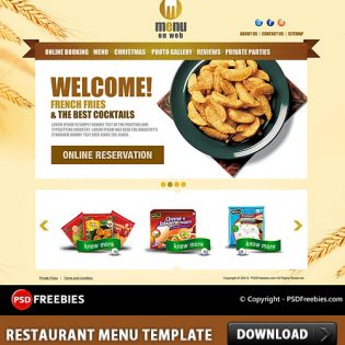 Restaurant Menu Free PSD Template