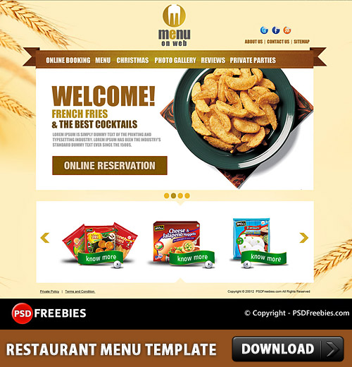 restaurant menu template free - restaurant menu free psd template download download psd