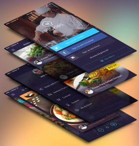 Restaurant Mobile App UI Screens Free PSD