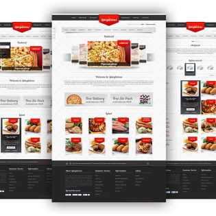 Restaurant Website Template Free PSD