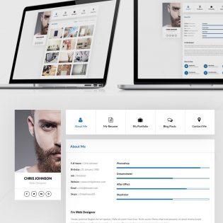 Resume and Portfolio Website Templates Free PSD