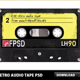Retro Audio Tape Free PSD