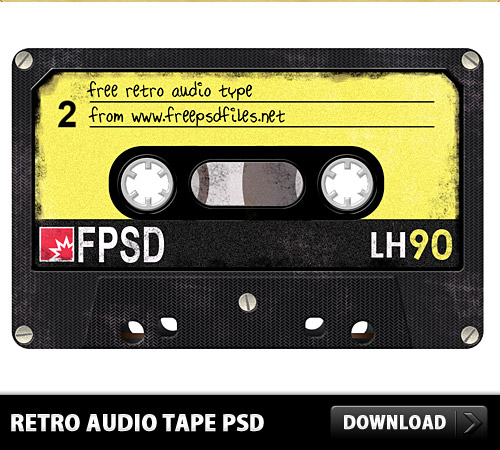 Retro Audio Tape Free PSD Tape, Retro, Radio, Psd Templates, PSD Sources, psd resources, PSD images, psd free download, psd free, PSD file, psd download, PSD, Old, Objects, Music, Layered PSDs, Icon PSD, Icon, Free PSD, Free Icons, Free Icon, download psd, download free psd, Audio Tape,