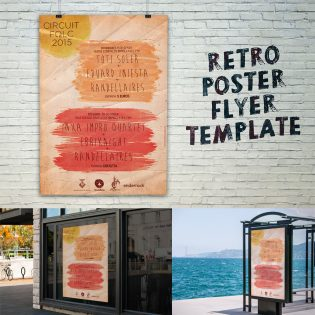 Retro Style Flyer Template Free PSD