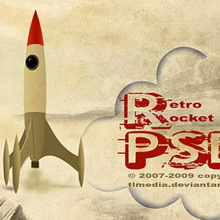 Retro rocket PSD File