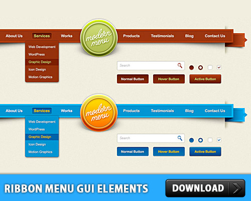 Ribbon Menu GUI Elements PSD Web Resources, Web Elements, Search, Ribbon, Resources, Radio Button, Psd Templates, PSD Sources, psd resources, PSD images, psd free download, psd free, PSD file, psd download, PSD, Modern Style, Menu, Layered PSDs, Icon PSD, GUI, Graphical User Interface, Free PSD, Free Icons, Free Icon, Elements, download psd, download free psd, Check Box, Buttons,