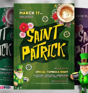 Saint Patricks Day Free Flyer Template PSD