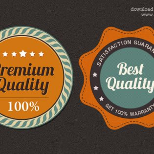Satisfaction Guarantee Award Badge PSD