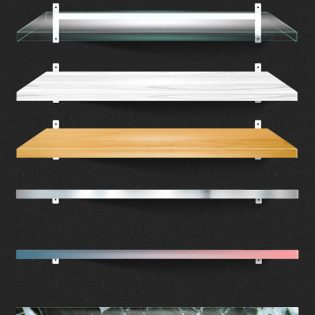 Shelf PSD Mockups
