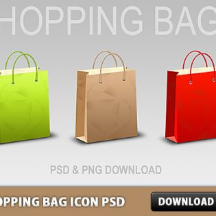Shopping Bag Icon Free PSD