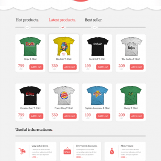 Shopping Ecommerce Theme PSD Files