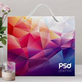 Shopping Paper Bag Mockup Free PSD Graphics