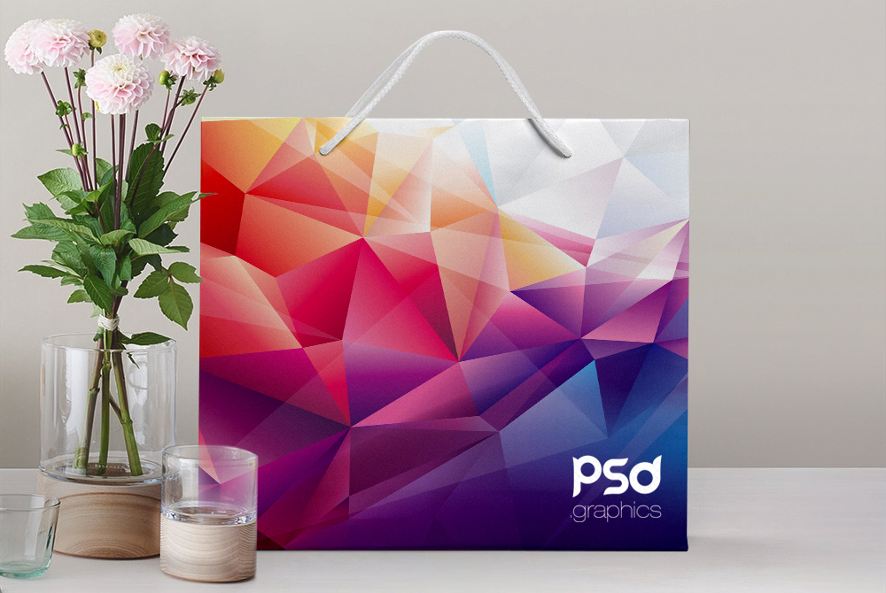 Shopping Paper Bag Mockup Free PSD Graphics Preview