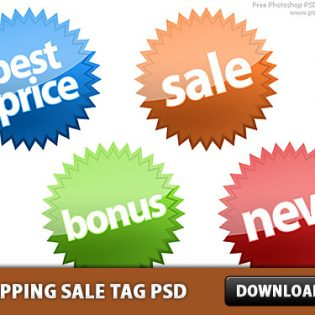 Shopping Sale Tag Free PSD