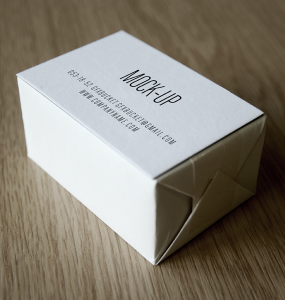 Simple Business Card Deck Mockup PSD