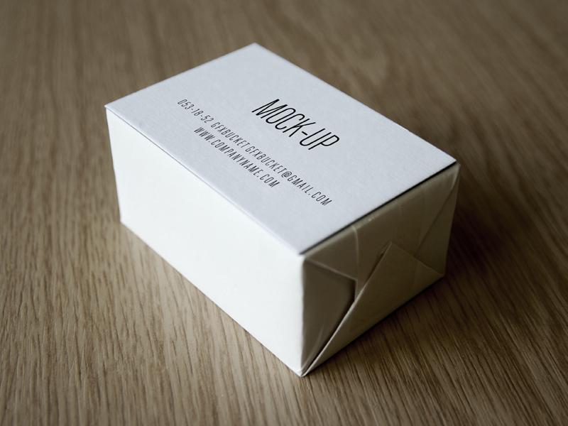 Simple Business Card Deck Mockup PSD