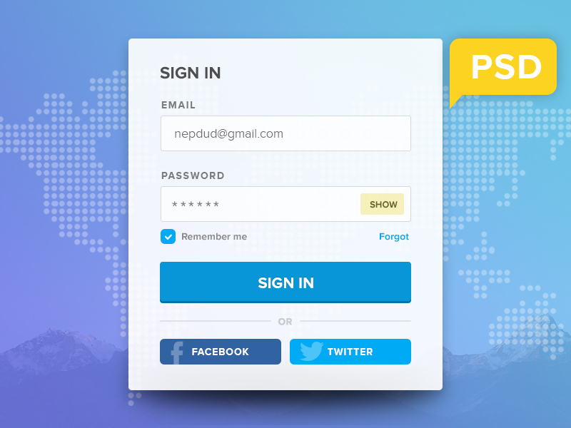 Simple flat login panel psd freebie download download psd simple flat login panel psd freebie widget web resources web elements web design elements web username pronofoot35fo Choice Image
