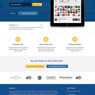 Simple Free PSD Template