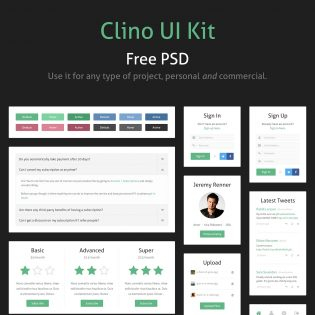 Simple PSD UI Kit Freebie