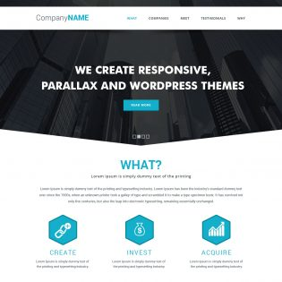 Simple Parallax Website Template Free PSD