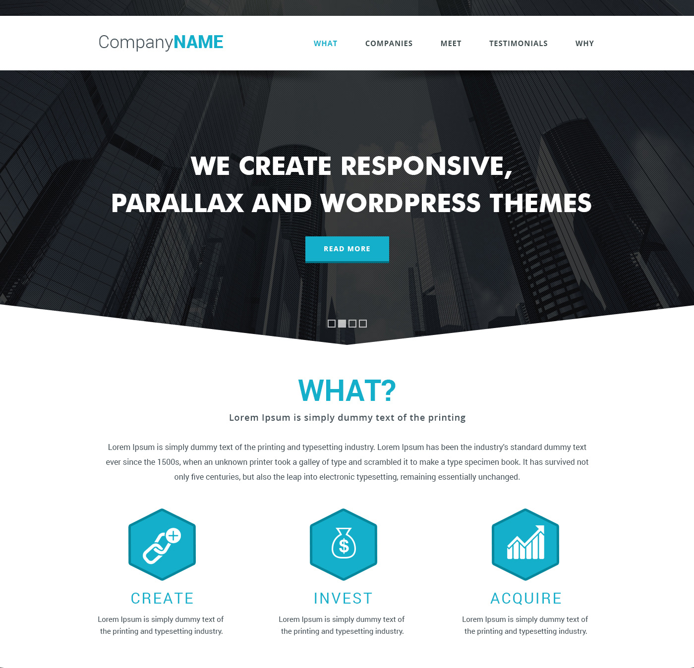 Simple parallax website template free psd download download psd simple parallax website template free psd maxwellsz