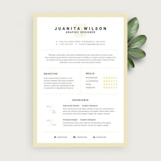 Simple Resume Template Free PSD